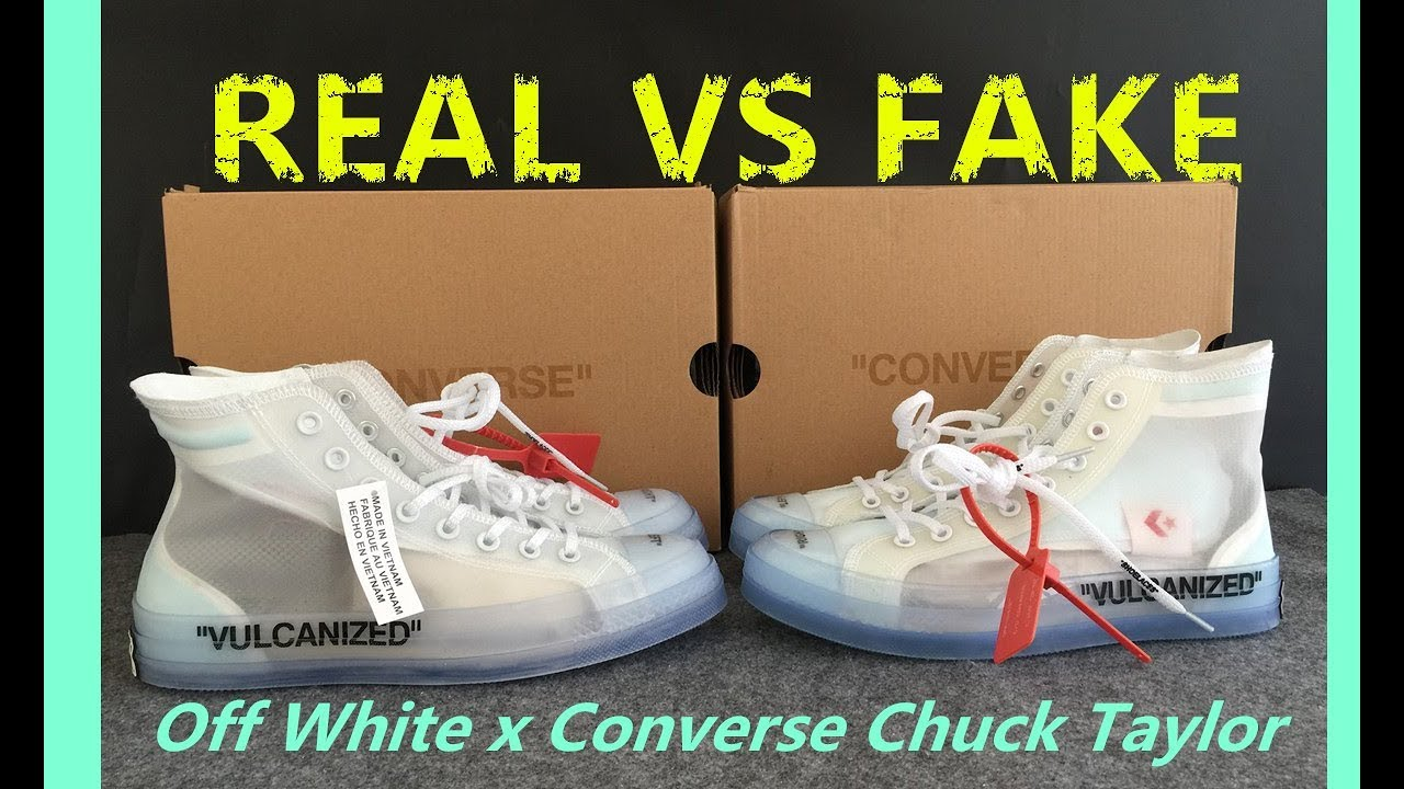 0e81c9f52df REAL VS FAKE Off White x Converse Chuck Taylor Comparison - YouTube