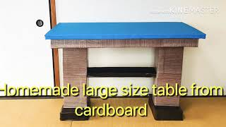 DIY large size table | For DIY Activities | totally from cardboard/段ボールからのDIY大型テーブル