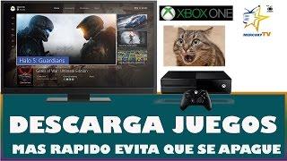 Xbox One Descargar Mas Rapido tus Juegos y Evitar que se Apague