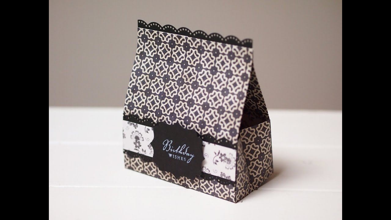 折り紙の 折り紙の折り方 簡単 : 横開きマチ付きラッピング袋の ...