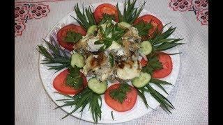 Рыба тушенная в белом вине/ Риба запечена у білому вині / Запеченный минтай в сухом вине и сметане