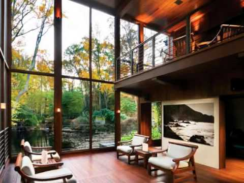 Modern home designs relaxing house with meditative view for Modern home design usa