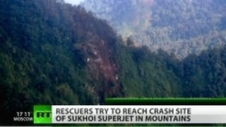 'No sign of survivors' at Sukhoi Superjet 100 crash site