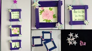 Easy photo frame using Popsicle sticks(ice cream sticks)|room decor