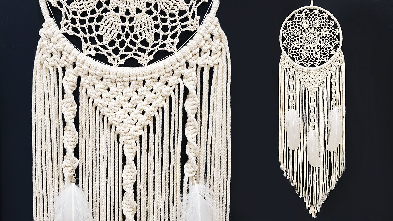 Diy Tutorial L Macrame Boho Dreamcatcher Youtube