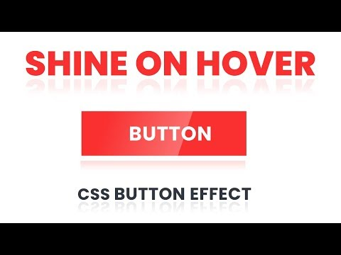 Shine on Hover Buttons | CSS Button Effects | CSS Tutorial thumbnail