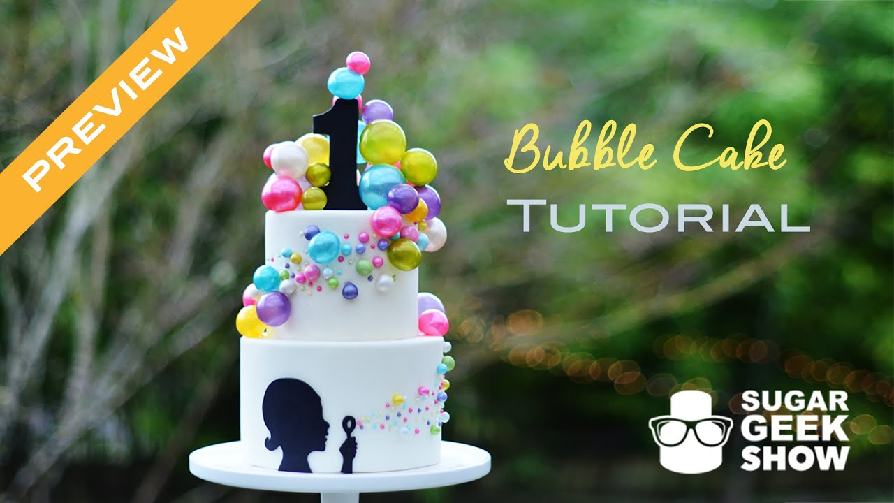 bubble wedding cake cake tutorial preview 12202