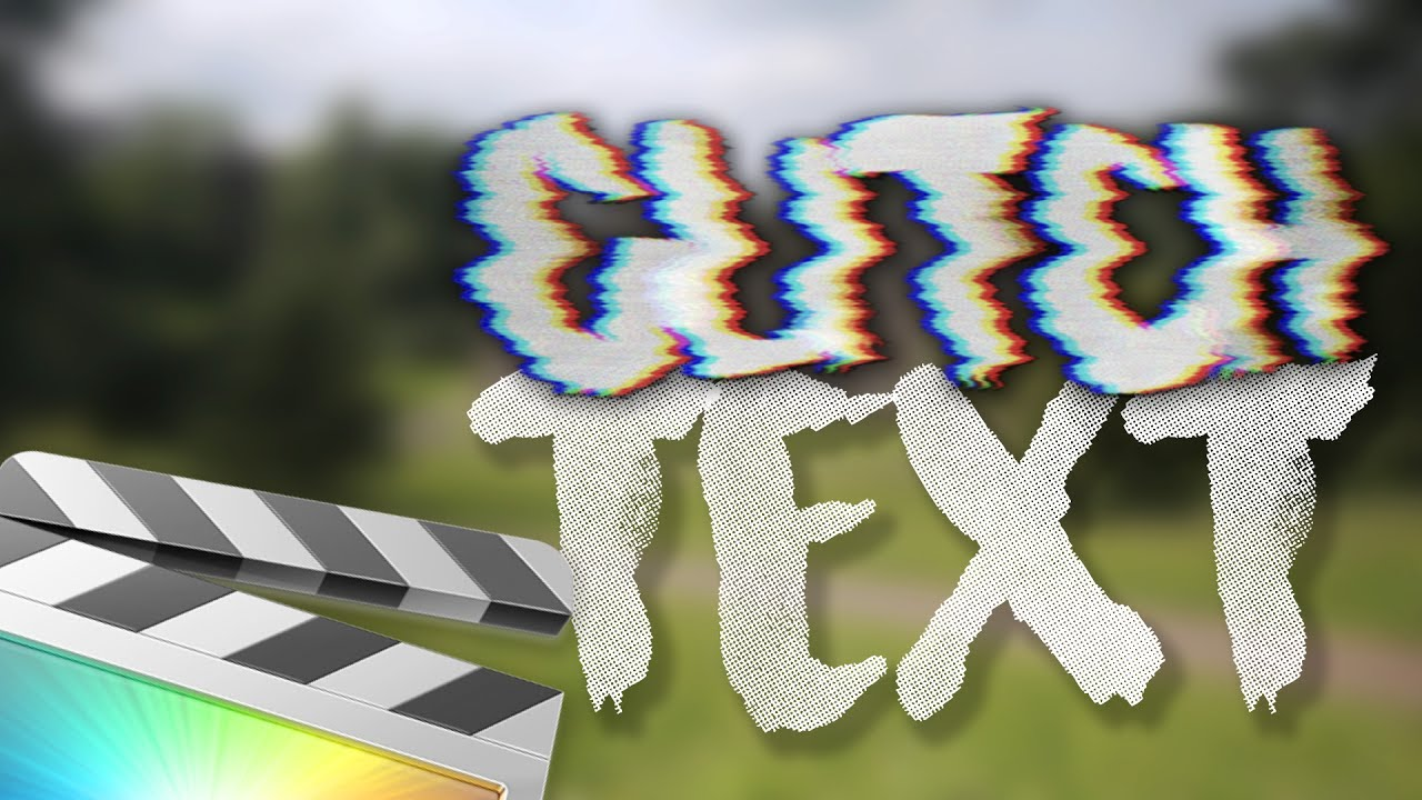 TEXT GLITCH EFFECT Tutorial for Final Cut Pro X + FREE Download // FCP X  Tutorial
