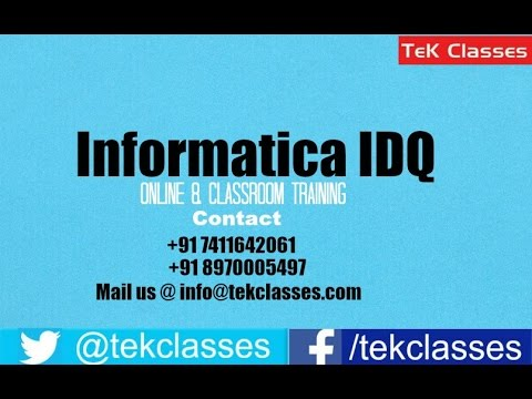Informatica Data Quality Training Demo Video | Informatica Data ...