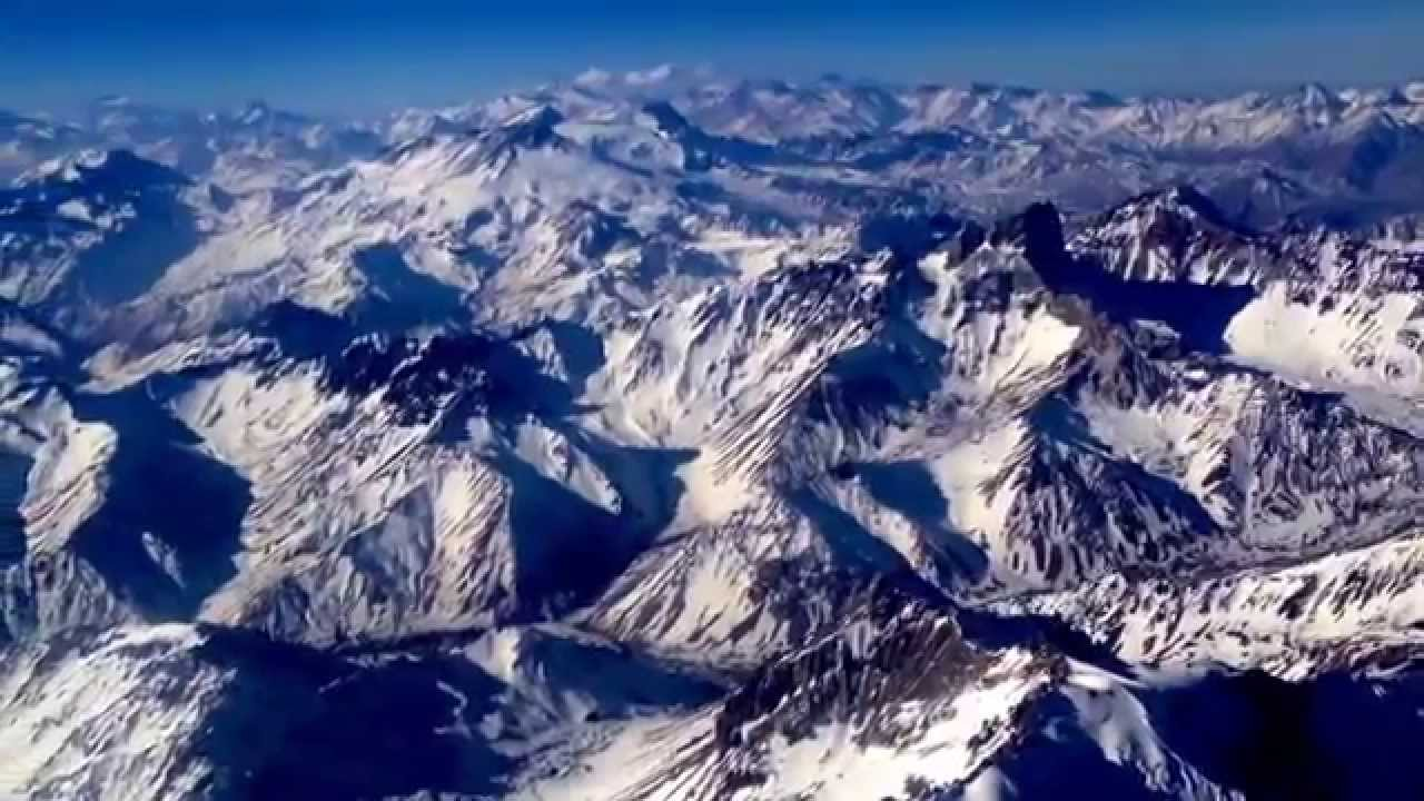 Flying Over The Andes Mountains From Santiago Chile In Route To - Where are the andes mountains