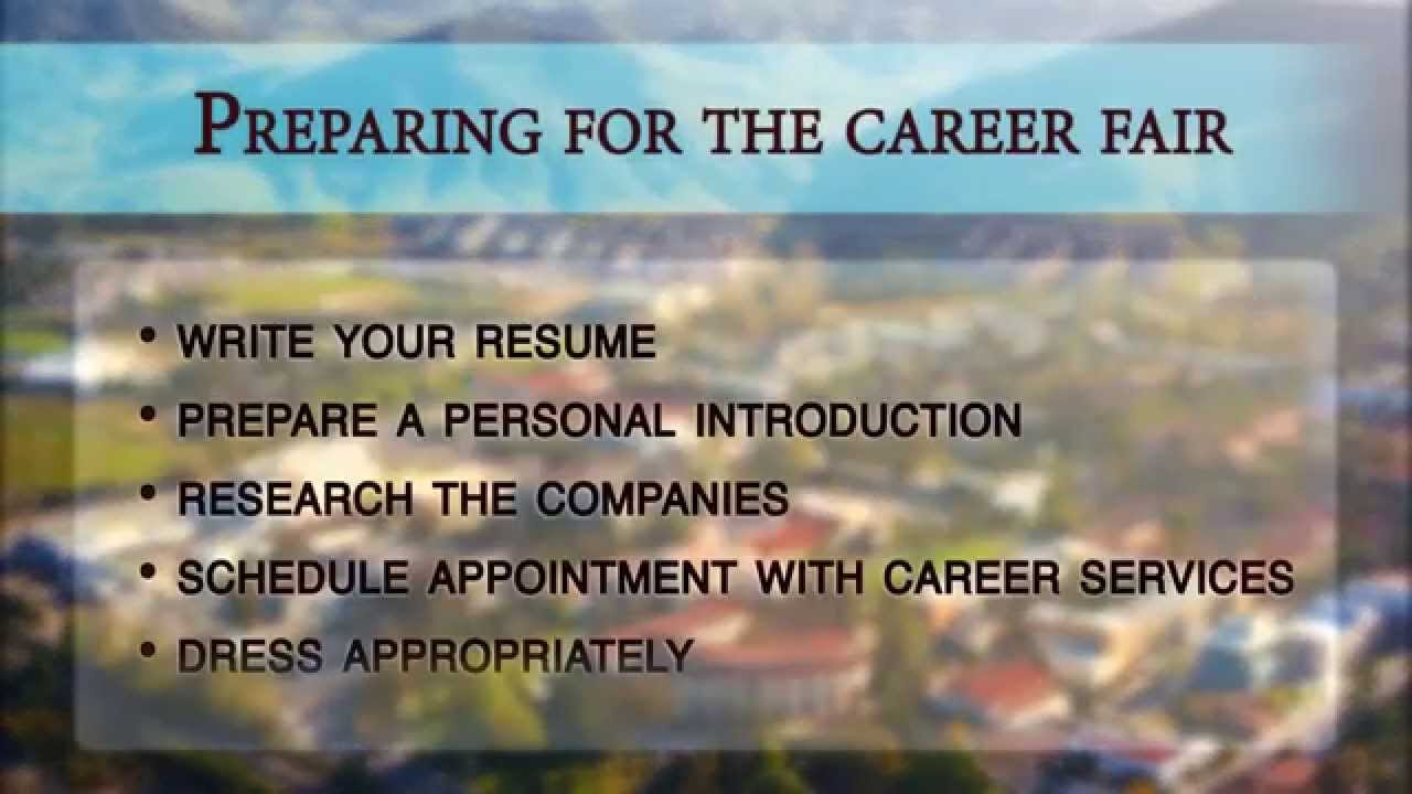 how to prepare for the cal poly career fair how to prepare for the cal poly career fair