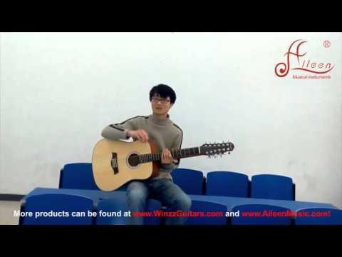 【Aileen Music】Music Instruments performanceDoubleneck guitar 3