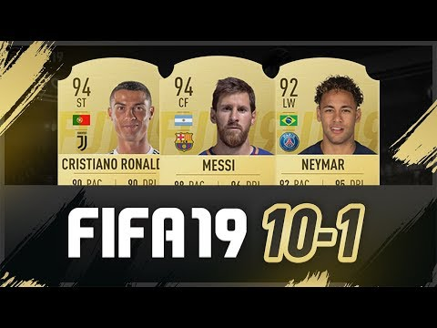FIFA 19 ULTIMATE TEAM RATINGS! - 10-1 w/ 94 ST RONALDO & 94 CF MESSI!