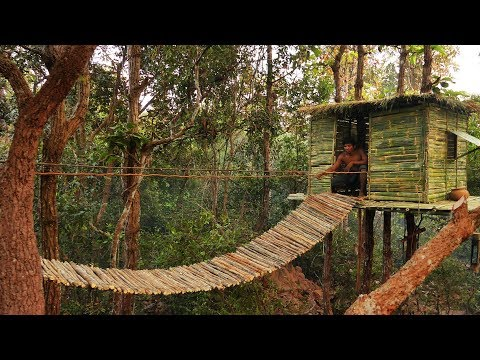 Building The Most Bamboo Tree House