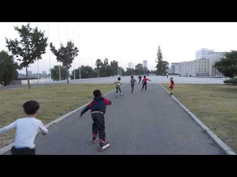 Children Play in Kim Il Sung Square, DPRK