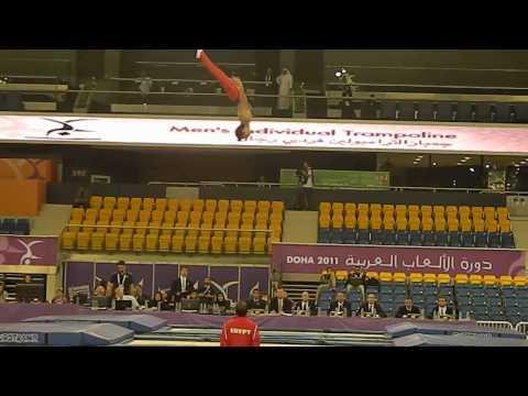 Seif Asser (1st Routine) Egypt - Trampoline Arab Games 2011