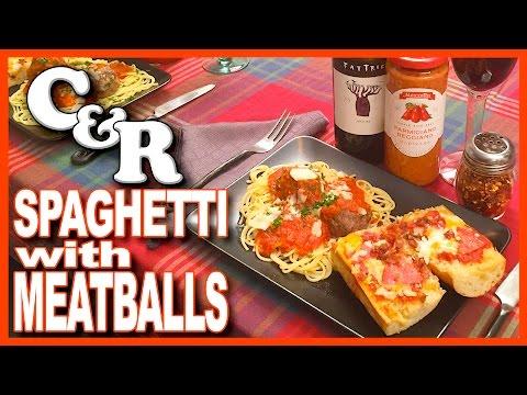 Spaghetti & Meatballs with Crazy Pizza Bread Featuring Mezzetta   KBDProductionsTV