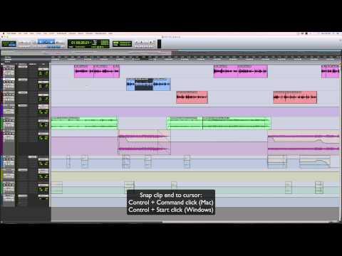 Pro Tools clip snapping shortcuts