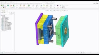 Creo EMX-1 Mold Opening Simulation