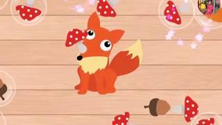 ЖИВОТНЫЕ ЛЕСА   Мультики про Животных   Названия Животных на Английском  Мультфильмы для Детей
