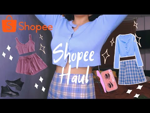 SHOPEE HAUL (trendy clothes, shoes and make up) | Sophia Molina