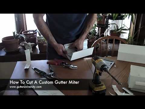 How To Cut A Custom Gutter Miter Youtube