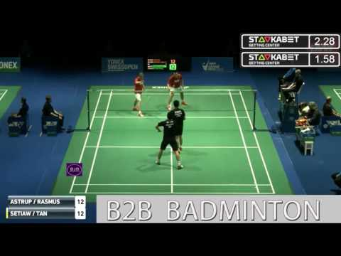 2017 YONEX Swiss Open R32 MD ASTRUP RASMUSSEN vs Hendra SETIAWAN Tan Boon Heong   YouTube 0