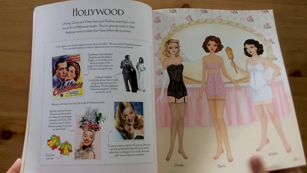 1940 S Fashion Sticker Dolly Usborne Youtube
