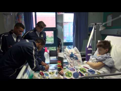 Bristol Rovers Visit The Children's Ward At Frenchay Hospital