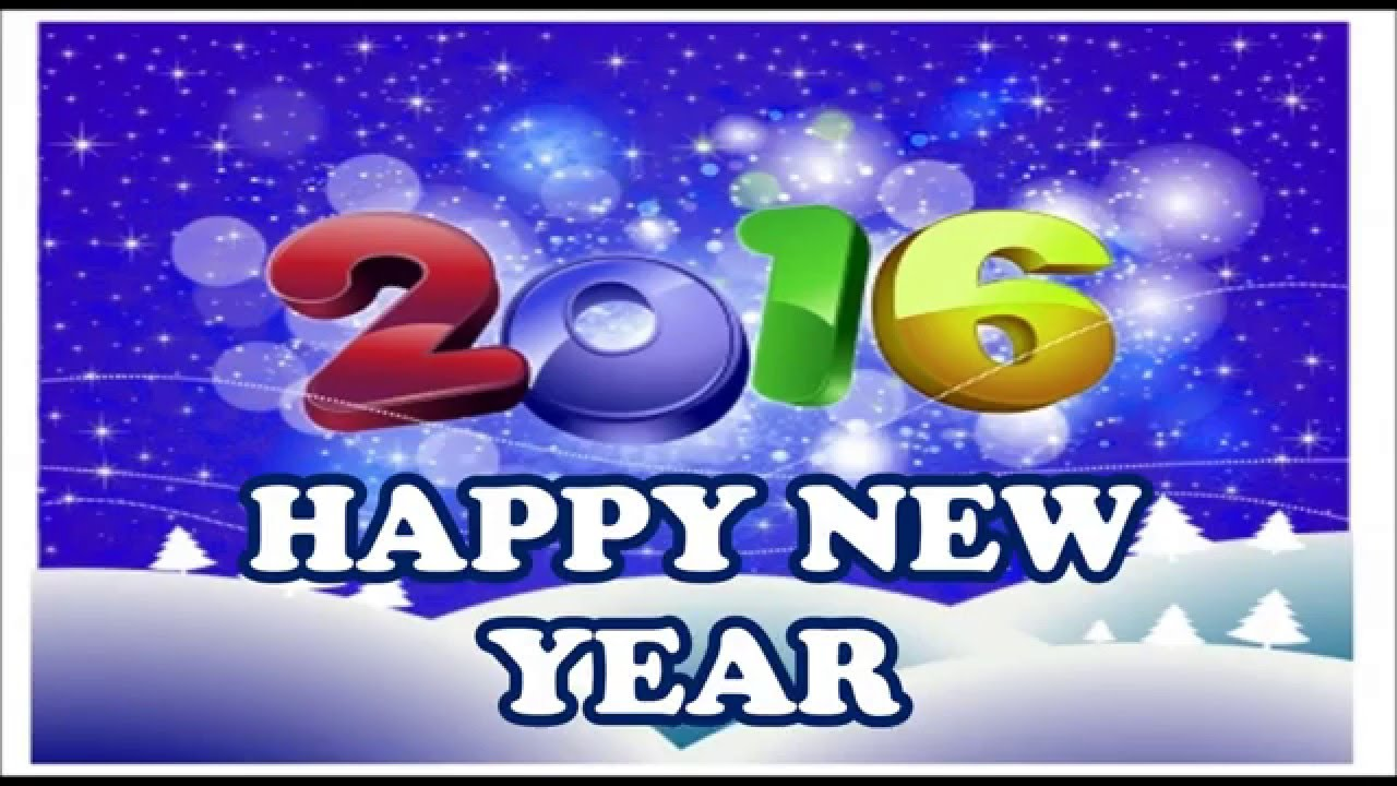 Happy New Year 2016 SMS, Wishes, Greetings, HD Images, Quotes - YouTube