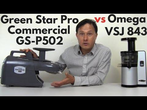 Green Star Pro Twin Gear vs Omega VSJ843 Vertical Slow Juicer Comparison Review