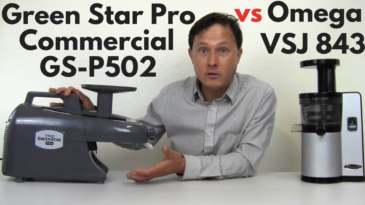 Green Star Pro Twin Gear vs Omega vSJ843 vertical Slow Juicer Comparison Review - YouTube