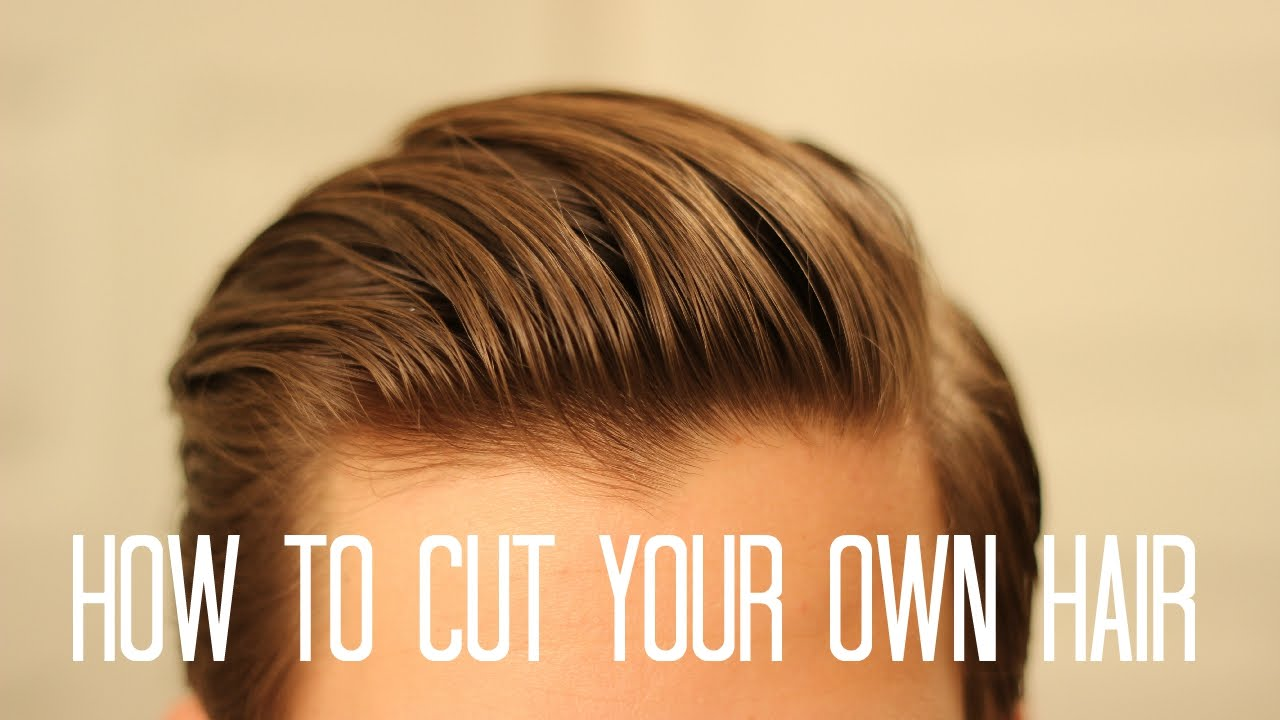 how to style cut your own hair how to cut your own hair 6334 | maxresdefault