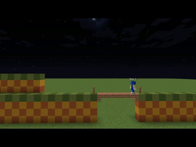 Minecraft Sonic The Hedgehog Green Hill Zone Act 1
