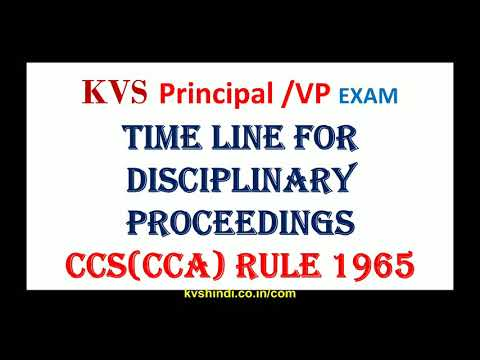 Time limits disciplinary proceedings CCS(CCA) Rules 1965