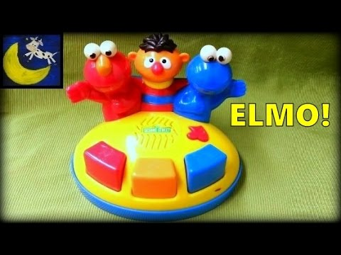 Rare Sesame Street Elmo's Giggle Gang Piano Singing Toy with Elmo, Ernie & Cookie Monster