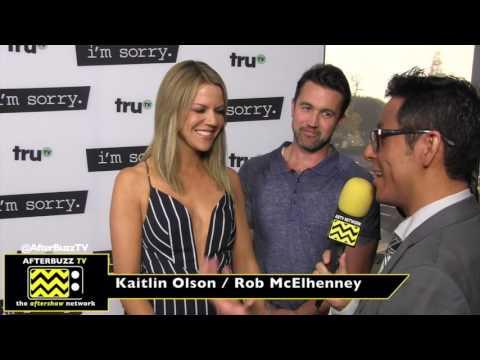 Kaitlin Olson and Rob McElhenney  I  I'm Sorry Premiere  I  2017