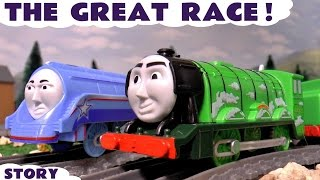 Thomas and Friends The Great Race with funny Minions   Family Fun for Kids with The Flying Scotsman
