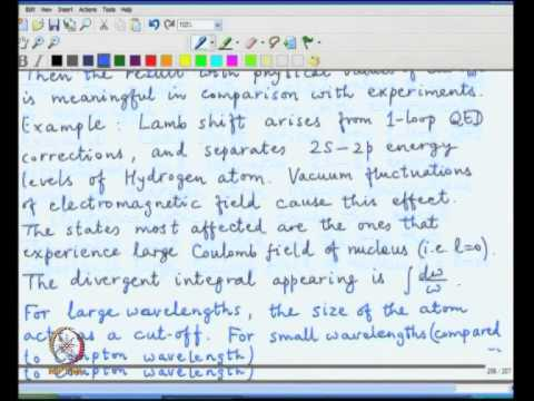 Mod-03 Lec-43 Infrared divergences due to massless particles, Renormalisation