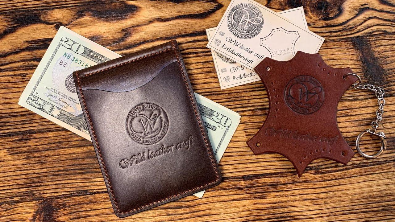 Slim wallet/Money Clip/Зажим для денег из кожи Pull-Up и Buffalo от #wildleathercraft