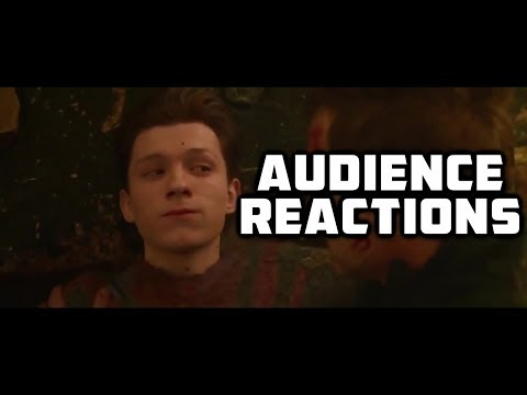 """Avengers Infinity War Full Scene """"Thanos Snaps"""" {SPOILERS} : Audience Reactions 
