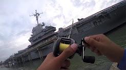 Fishing Next To A US Aircraft Carrier! | USS Lexington