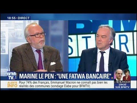 """""""Le Front national a retrouvé une nouvelle banque, le Crédit du Nord"""", dit Wallerand de Saint-Just"""
