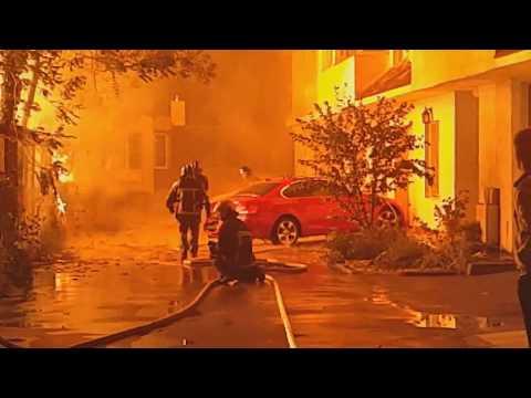 Пожар в Одессе в ночь на 16.09.2017 Лагерь Виктория!!!