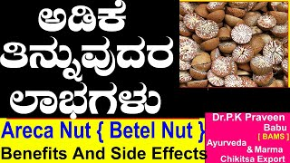 What R The Benefits Chewing Betel Nut|Ayurveda tips in Kannada|Praveen Babu | Areca Nut Side Effects