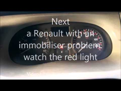 Renault immobiliser Problem correct operation and malfunction