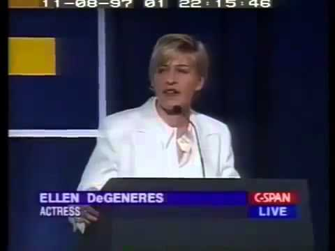 Ellen DeGeneres on Coming Out, Gay and Lesbian Rights Issues - Speech (1997)