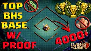 NEW !! Top Builder Hall 5 (BH5) Base 4000+ Trophies W/ Replays Proof UPDATED !!