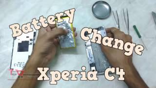 How to change Battery Xperia C4 E5303 E5333 E5353 E5343 E5306 E5363
