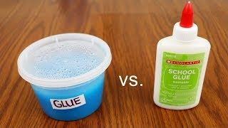 Homemade Glue vs. Store Bought Glue! Can Homemade Glue make Slime?